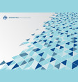 abstract blue geometric triangle structure vector image