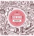 background of needlework tools vector image