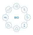 8 bio icons vector image vector image