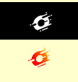 abstract alphabet logo design template dynamic vector image