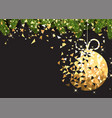 background with golden abstract christmas ball vector image