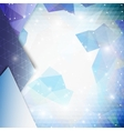 Blue geometric background abstract triangle vector image