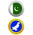 button as a symbol PAKISTAN vector image