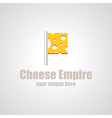 cheese empire logo vector image vector image