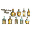 color scotch whisky bottle set vector image vector image