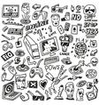 computer games - doodles set vector image