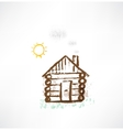 cottage grunge icon vector image vector image