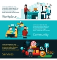 Coworking Banners Set vector image vector image