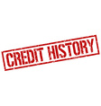 credit history stamp vector image vector image