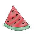 delicious watermelon fruit vector image vector image