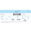 detailed airplane ticket vector image vector image