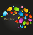 easter colored eggs abstract vector image