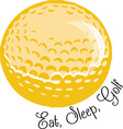 Eat Sleep Golf vector image vector image