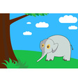 Elephant in the forest vector image