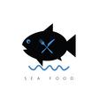 fish cartoon sea food vector image vector image