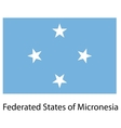 Flag the country federated states of micronesia vector image