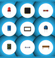 flat icon electronics set of resistor resistance vector image vector image