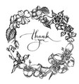 floral wreath black and white impatiens vector image vector image