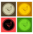 funny hand drawn abstract bird ilustration vector image vector image