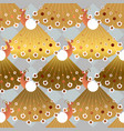 gold and bronze peacock bird seamless pattern vector image