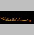 grenoble light streak skyline profile vector image vector image