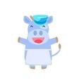 Happy Cow In Farmer Apron vector image vector image