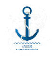 icon anchor vector image