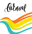Inscription Carnival background colors of the vector image
