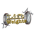 Lift weights vector image vector image