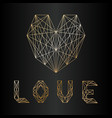 love gold vector image vector image