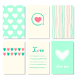 Love theme design with Valentine day vector image
