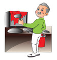 man painting computer vector image vector image