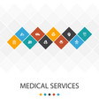 medical services trendy ui template infographics vector image