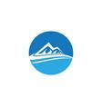 mountain logo business template vector image vector image