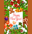 new year greeting card of christmas holiday design vector image vector image
