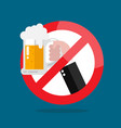 no alcohol allowed sign vector image vector image