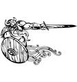 Nordic viking - Vinyl-ready vector image vector image