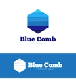 paper style multicolor hexagon logo Flat vector image vector image