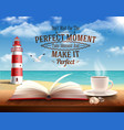 perfect moment quotes vector image vector image
