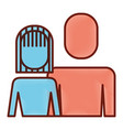 portrait woman and man people image vector image