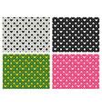 seamless casino pattern in pixel batik art vector image vector image