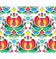 seamless norwegian folk art pattern vector image