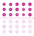 Set flower icons
