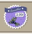 Smoothie Sticker 8 vector image