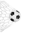 soccer or football 3d ball isolated on white vector image vector image