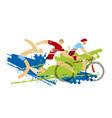 triathlon race fitness outdoor activities vector image vector image