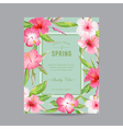 Tropical Floral Colorful Frame - for Invitation vector image vector image