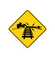 usa traffic road sign low ground clearance vector image vector image