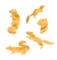 watercolor silhouettes of a chipmunk vector image vector image