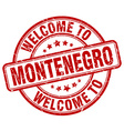 welcome to Montenegro vector image vector image